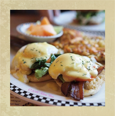 Eggs Benny at Black Bear Diner