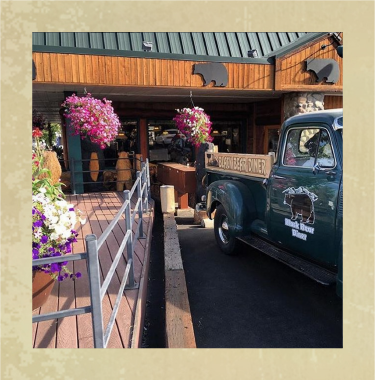 Old Truck in Front of a Black Bear Diner